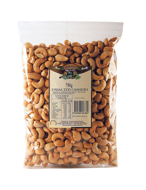 Cashews Roasted & Unsalted 750g