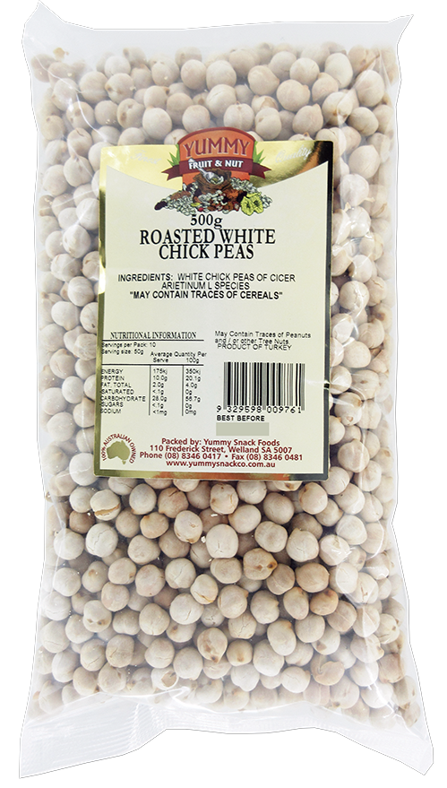 Chick Peas Roasted White 500g