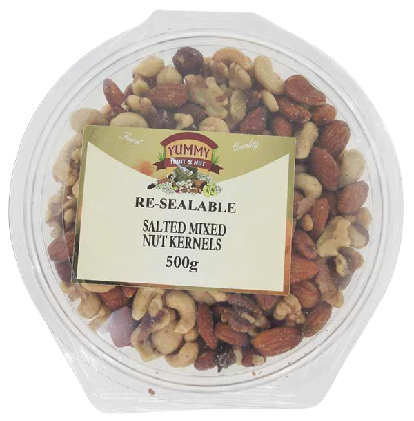 Large Tub - Mixed Nut Kernels Salted 500g