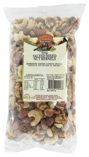 Mixed Nut Kernels Salted 500g