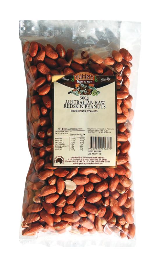 Peanuts Raw Redskin 500g