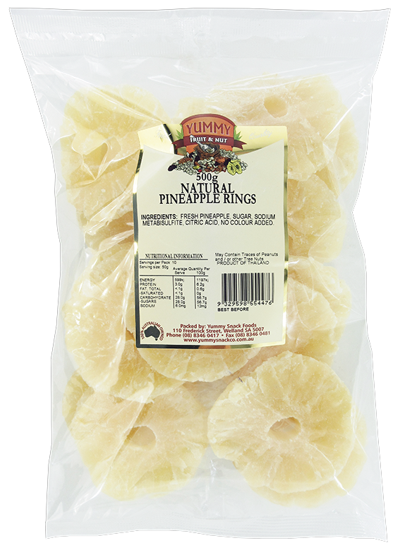 Pineapple Rings 500g