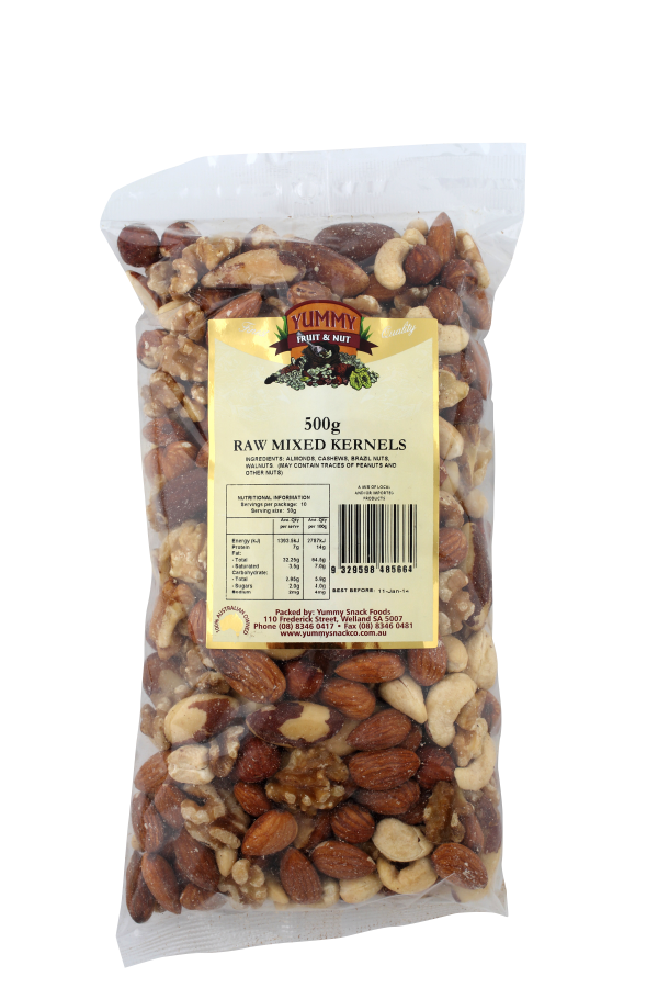 Mixed Nut Kernels Raw 500g