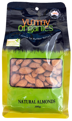 Yummy Organics - Almonds Natural 300g