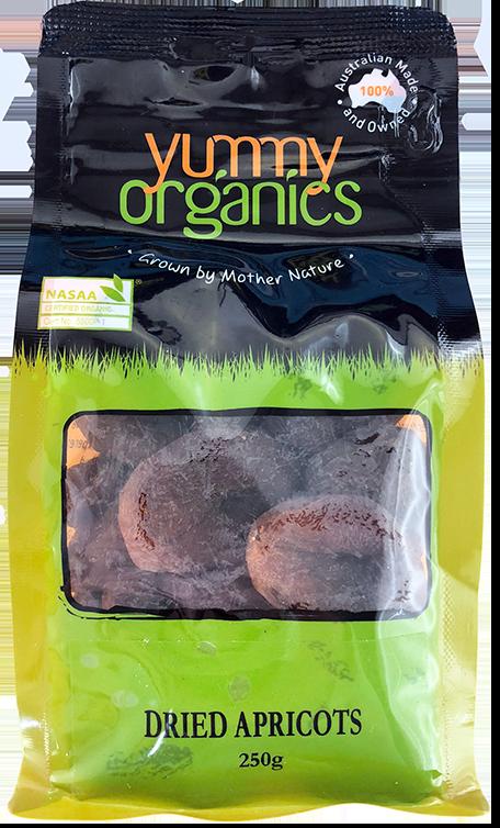 Yummy Organics - Apricots Dried 250g