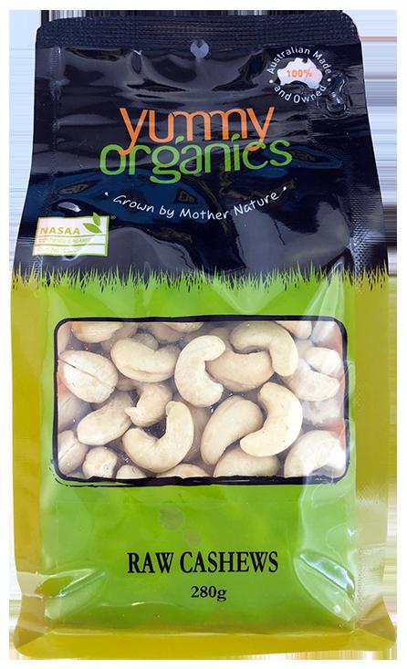 Yummy Organics - Cashews Raw 280g