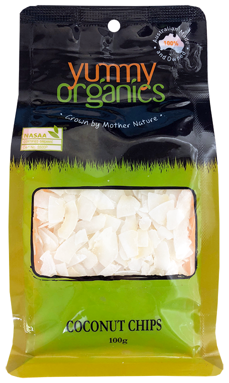Yummy Organics - Coconut Chips 100g