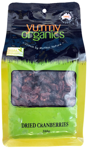 Yummy Organics - Cranberries Dried 350g