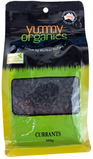 Yummy Organics - Currents Dried 350g